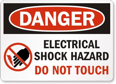 Dont Touch That Its Shocking by Do Not Touch Signs Do Not Touch Surface Signs