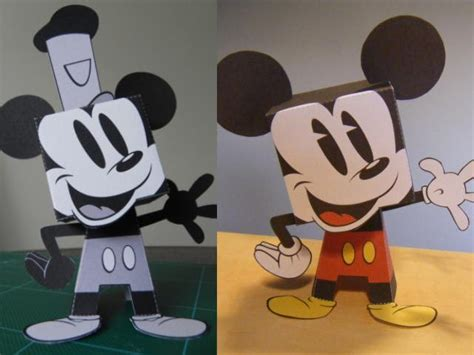 Mickey Mouse Papercraft - mickey 2bmouse 2bpaper 2btoys jpg