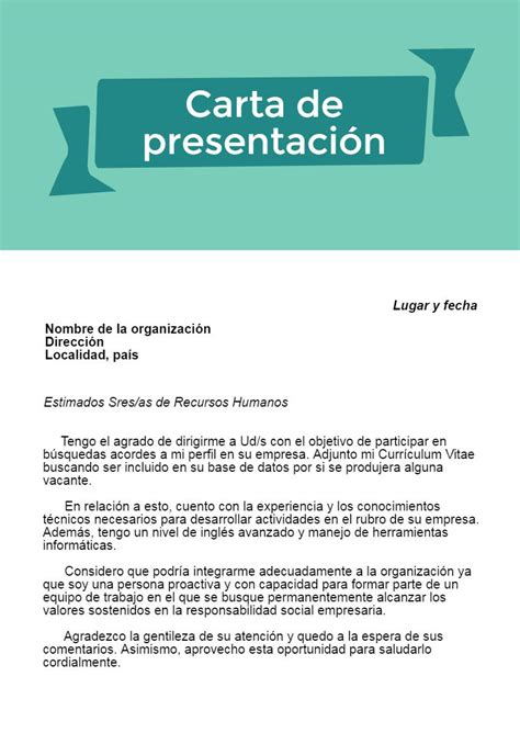 Modelo De Carta De Presentacion De Un Curriculum Vitae C 243 Mo Hacer Una Carta De Presentaci 243 N Con Ejemplo