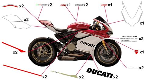 Ducati 848 Sticker Set by Stickers Ducati 90th Anniversary 959 1299 Panigale