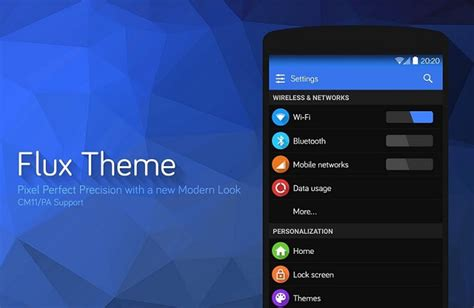 android flux 10 best cyanogenmod themes for android