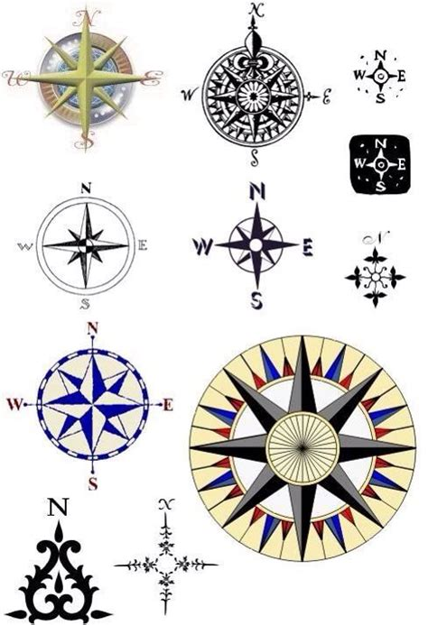 small compass tattoo design compas tatoos initials different