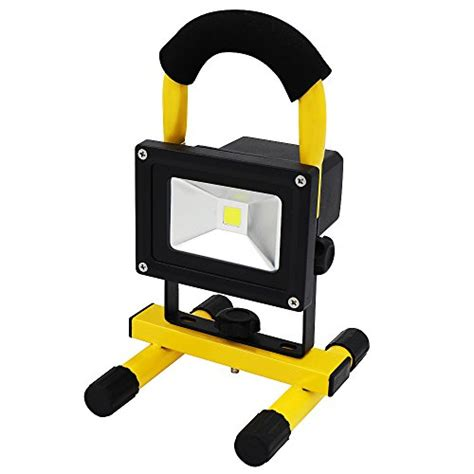 battery powered emergency lights for vehicles portable rechargeable cordless led work light flood light