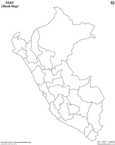 coloring page map of peru blank world map printable black and white best photos of