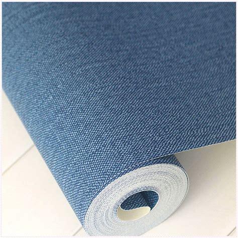 waterproof wallpaper for walls modern solid color dark blue wallpaper roll plain denim