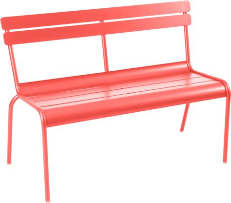 bench with backrest uk luxembourg bench with backrest nasturtium by fermob