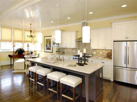 Open Floor Plan Kitchen Ideas 30 Bright And White Kitchens Kitchen Designs Choose Kitchen Layouts Remodeling Materials