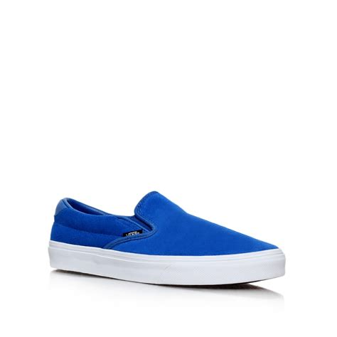 vans suede slip on 59 in blue for lyst