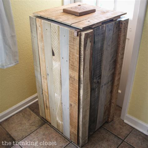 Rustic Closet Doors by How To Build A Rustic Pallet Recycle Bin Or Trash Can