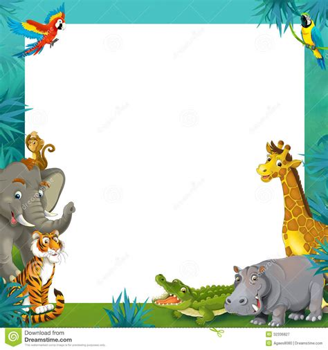 baby jungle animal border clip safari clipart border pencil and in color safari clipart