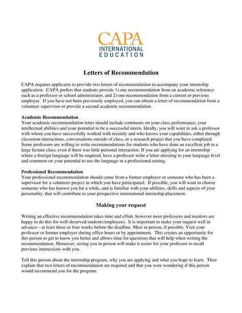 academic recommendation letter templates
