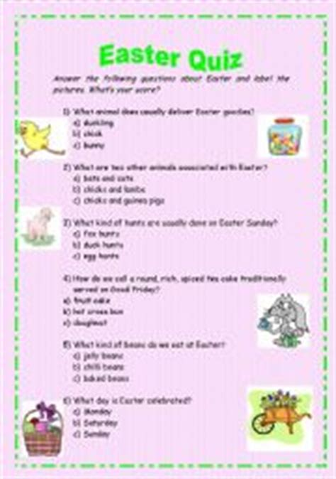 printable easter quiz english teaching worksheets easter quiz