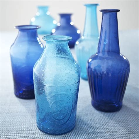 recycled glass vases cobalt traditional vases by