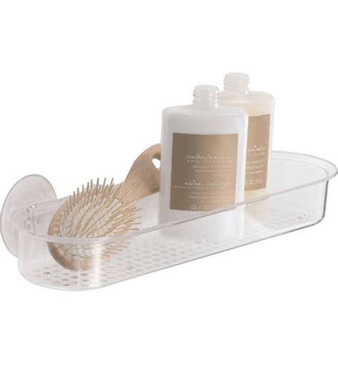 bathroom suction shelf acrylic suction shower shelf in suction organizers