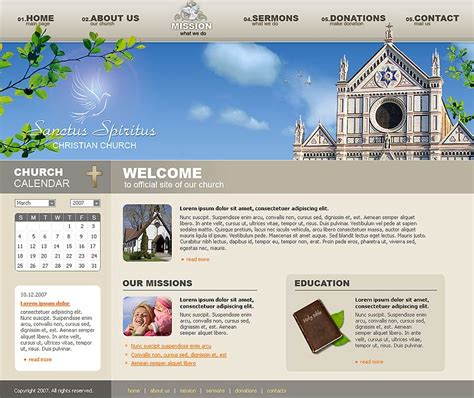 Church Website Template Id 300109985 Church Website Templates Html