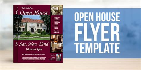 open house template real estate flyer design template wallpaper