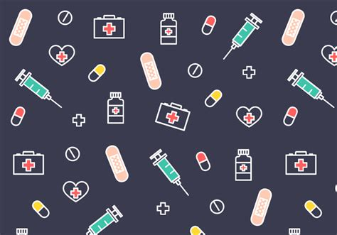 cute medical pattern free medical pattern vector download free vector art
