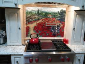 Tile Mural Kitchen Backsplash - kitchen backsplash tile mural custom tile and tile murals