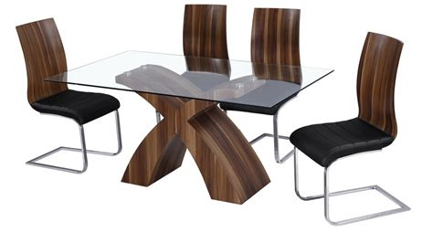 6 chair glass dining table glass dining table and 6 walnut chairs homegenies