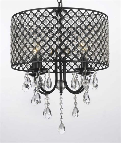 G7 1127 4 Gallery Chandeliers With Shades Wrought Iron 4 Wrought Iron Chandeliers With Shades