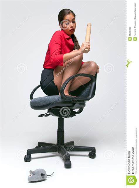 3d Office Floor Plan Woman With A Mouse Phobia Stock Photo Image 11850390
