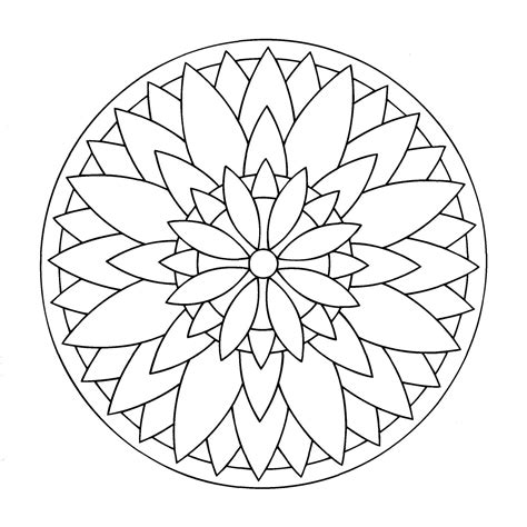 mandala coloring pages easy simple mandala 3 mandalas coloring pages for to