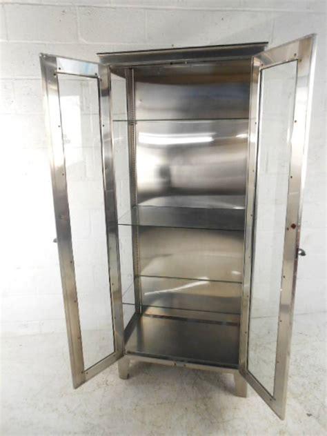 vintage industrial metal display cabinet at 1stdibs