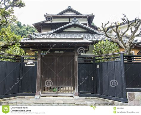 Traditional Japanese House Layout by Maison Japonaise Traditionnelle Image Stock Image 35099941