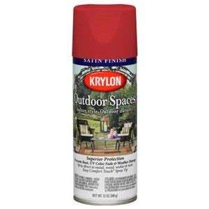krylon 2935 poppy satin outdoor spaces spray paint 12 ounce
