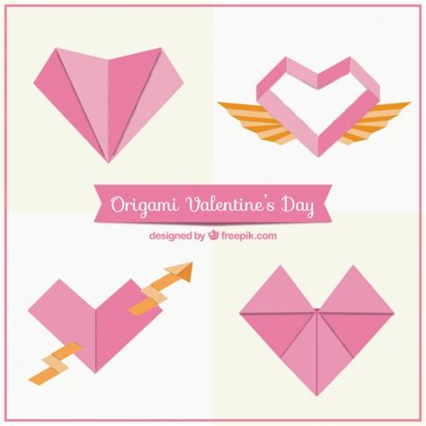 Origami Software Free - origami hearts pack vector free