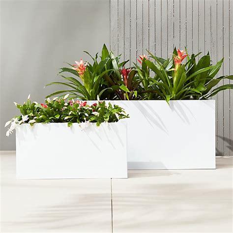 blox white large rectangular planters cb