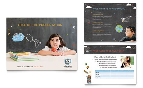 Education Foundation School Powerpoint Presentation Template Design School Presentation Template