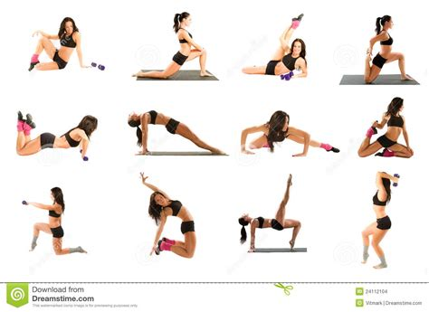 imagenes yoga pilates woman exercising collage yoga fitness pilates stock