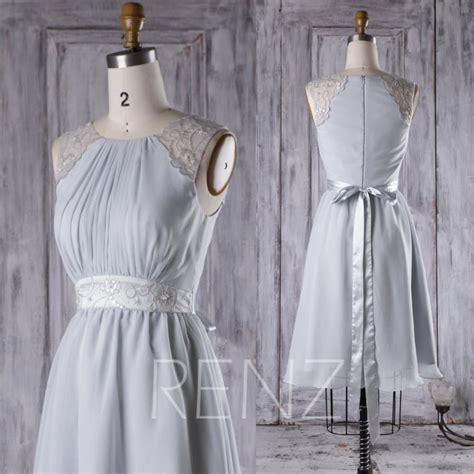light gray bridesmaid dresses 2017 light gray chiffon bridesmaid dress a line wedding