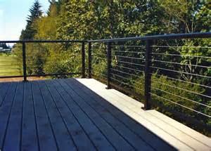 Backyard Decks On A Budget Cable Railing Cable Deck Railing Installation Ideas
