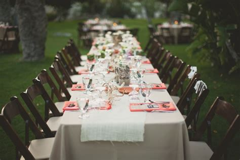 Chevron Table Linens - best spring party tables designs and inspiration
