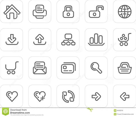 coloring school icons royalty free stock photos image plain icon set website and internet stock vector