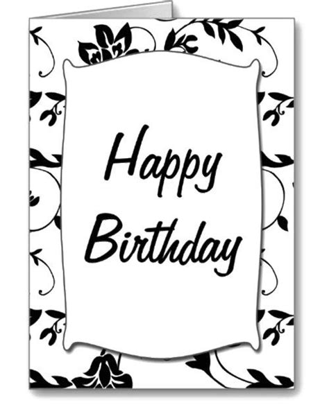 happy birthday card template black and white black white happy birthday card coloring page places