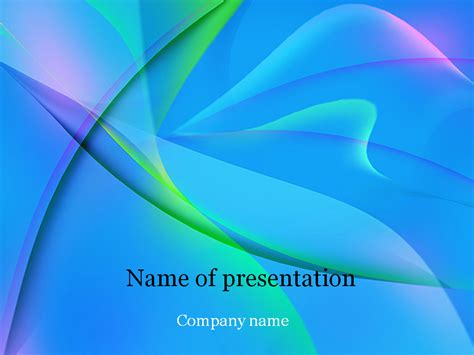 free blue powerpoint template for