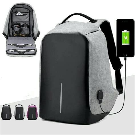 Ransel Anti Maling Usb tas ransel anti maling dilengkapi usb charging port anti