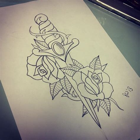 8 dagger tattoo designs ideas and flash