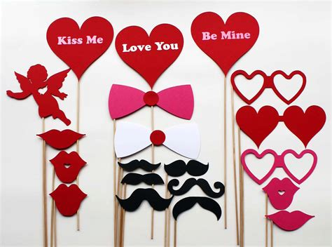 valentines day props items similar to valentines day photo booth props 20