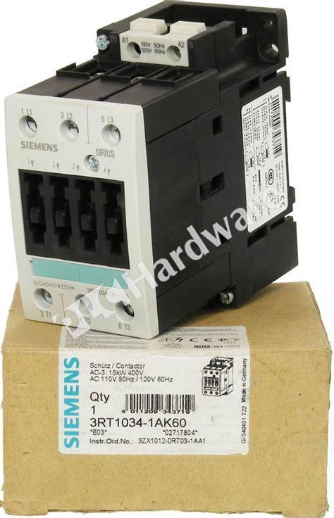 Siemens Contactor 3rt1034 1bb40 plc hardware siemens 3rt1034 1ak60 new surplus open