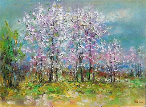 spring paint ioan popei spring landscape painting anysize 50 off