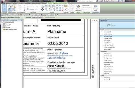 architektur plankopf plankopf parameter autodesk autocad revit architecture