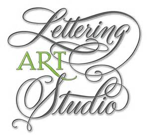 new lettering art studio logo design lettering art studio