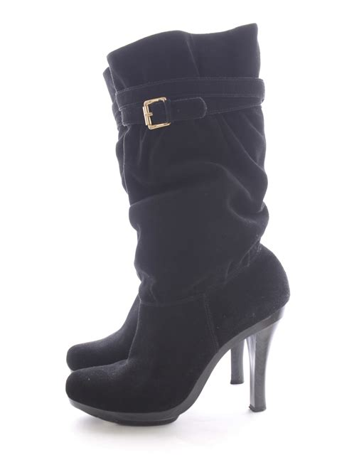 michael kors black suede slouch boot size 10m property room