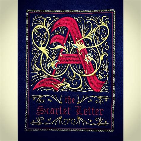 scarlet letter cover the scarlet letter embroidered cover flickr
