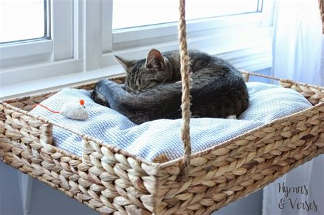 hanging cat bed diy hanging window basket cat perch hymns and verses
