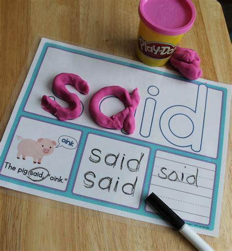 printable playdough sight word mats sight words pre primer sight word activity mats writing